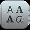 Ícono de Catálogo tipográfico
