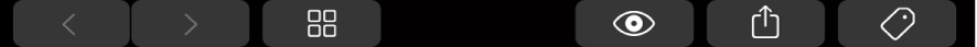 La TouchBar con botones específicos del Finder, como el botón Etiqueta.