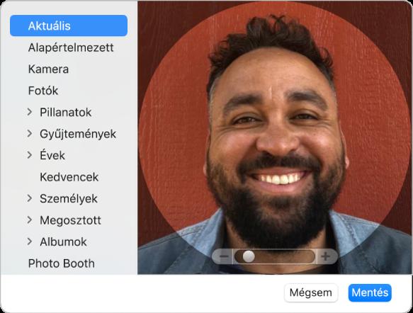 Az Apple ID kép párbeszédablak, ahol hozzáadta az Apple ID-ját képviselő fotót vagy képet.
