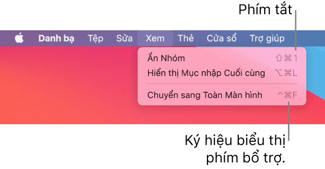 Ứng dụng Safari với các phím tắt menu Tệp được hiển thị