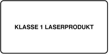 """Ein Etikett mit der Bezeichnung """"Produkt der Laserklasse 1""""."""