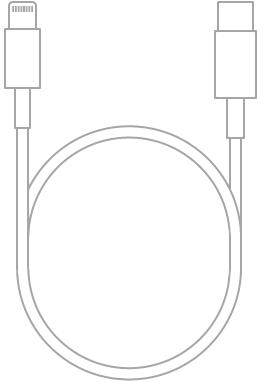 O Cabo de Lightning para USB-C.