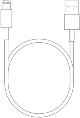 O Cabo de Lightning para USB.