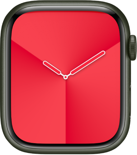 The Gradient watch face, where you can adjust the face color, style, and dial.
