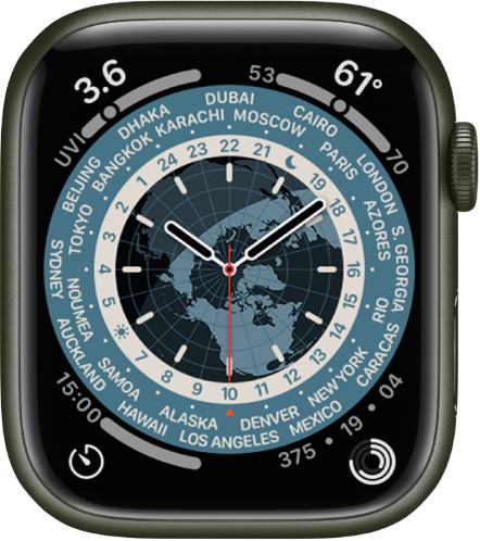 The World Time watch face.