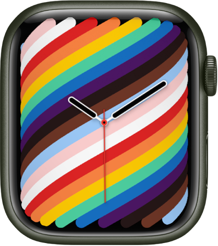 The Pride Woven watch face using the full-screen style.