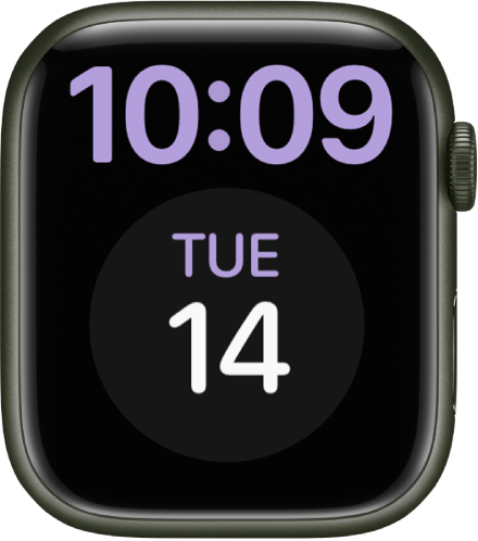 The X-Large watch face displays the time in digital format at the top. A large Calendar complication is below.