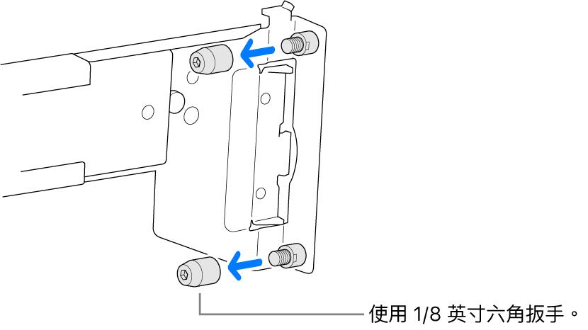 軌道組件符合圓孔機架。