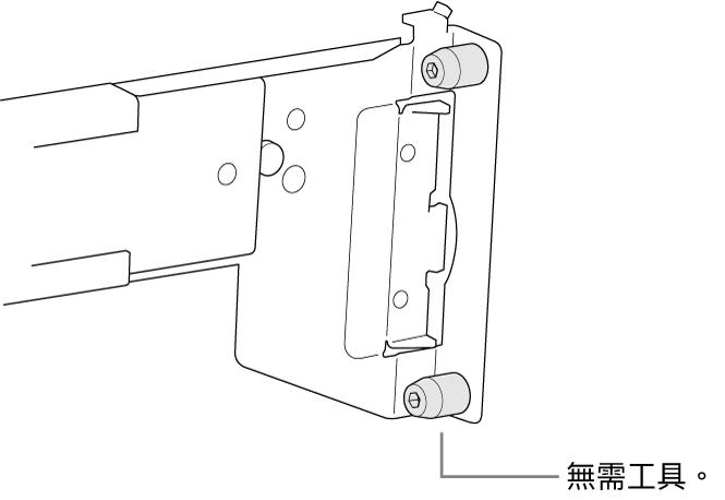 軌道組件符合方孔機架。
