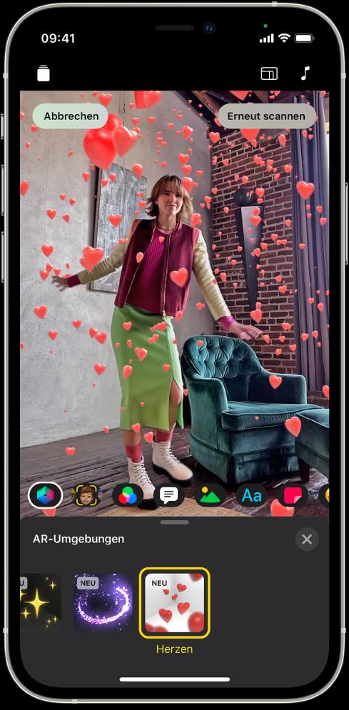 Eine AR-Umgebung im Viewer