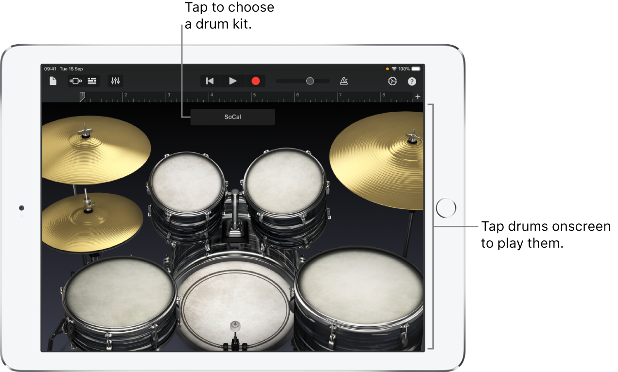 Drums Touch Instrument
