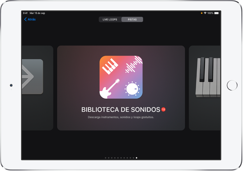 La biblioteca de sonidos en el explorador de sonidos