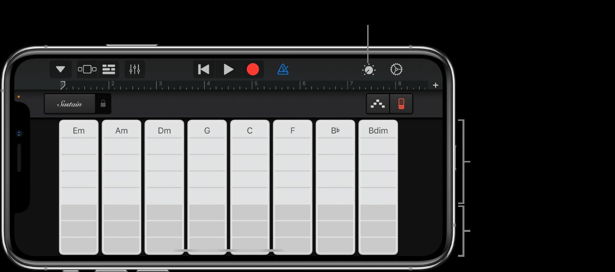 Keyboard-Akkord-Strips