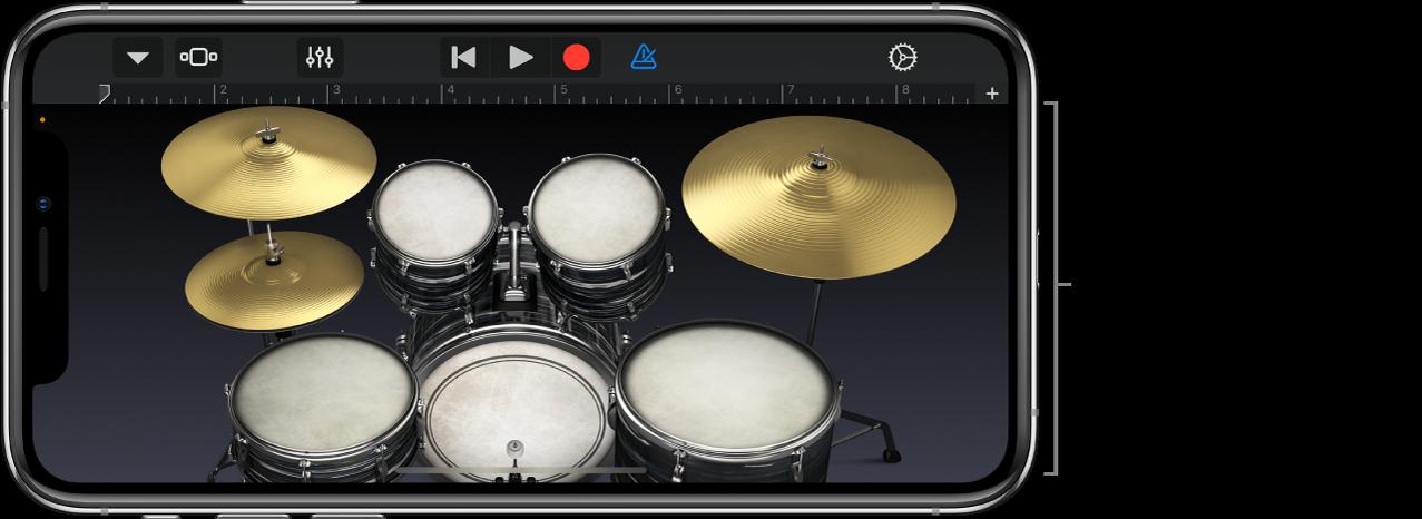 Touch-Instrument Schlagzeug