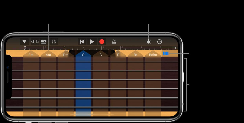 Instrument tactile Guitare