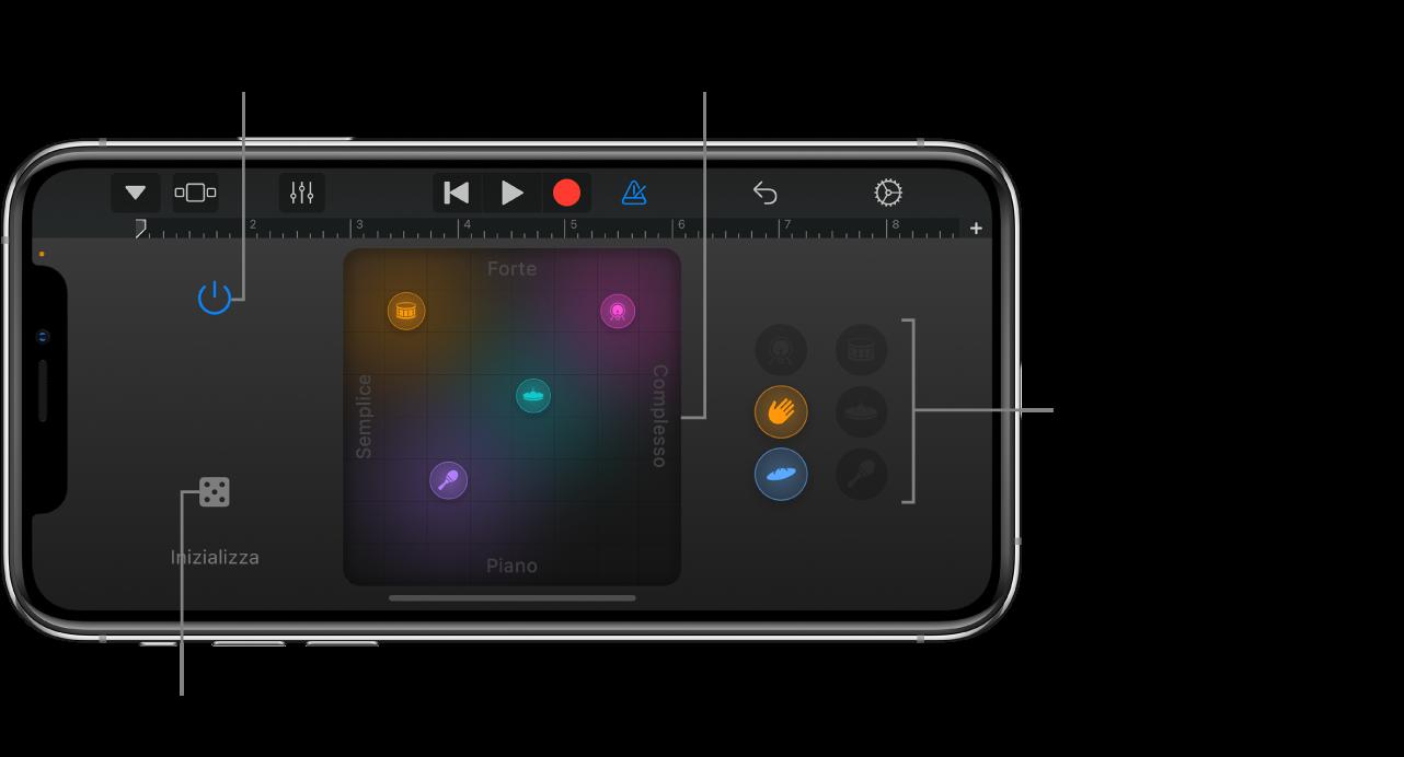 Strumento Touch Smart Drums