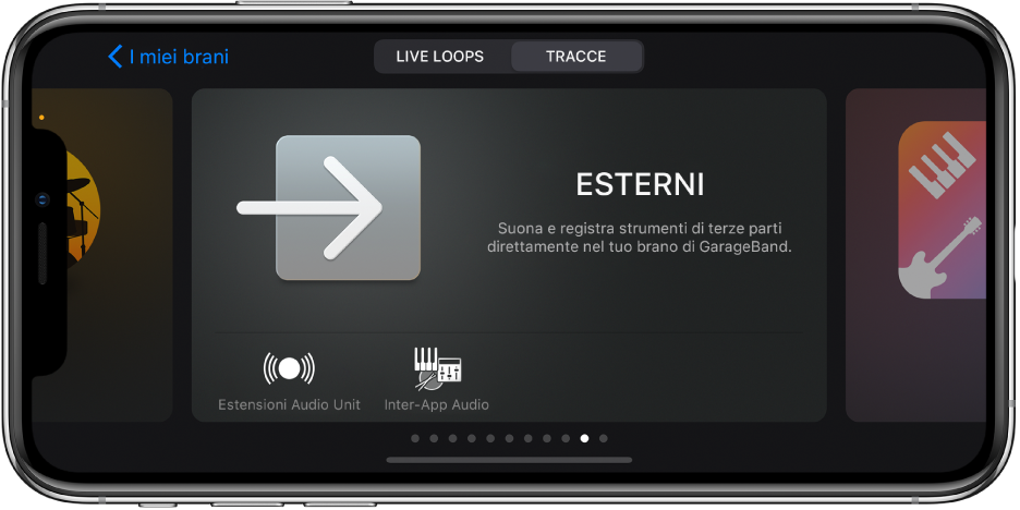 Figura. Il browser Suono che mostra le estensioni Audio Unit.