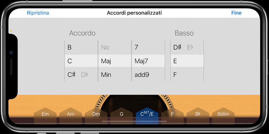 Personalizza le rotelle di controllo Accordi