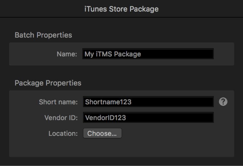 """Das Informationsfenster """"iTunes Store-Paket"""""""