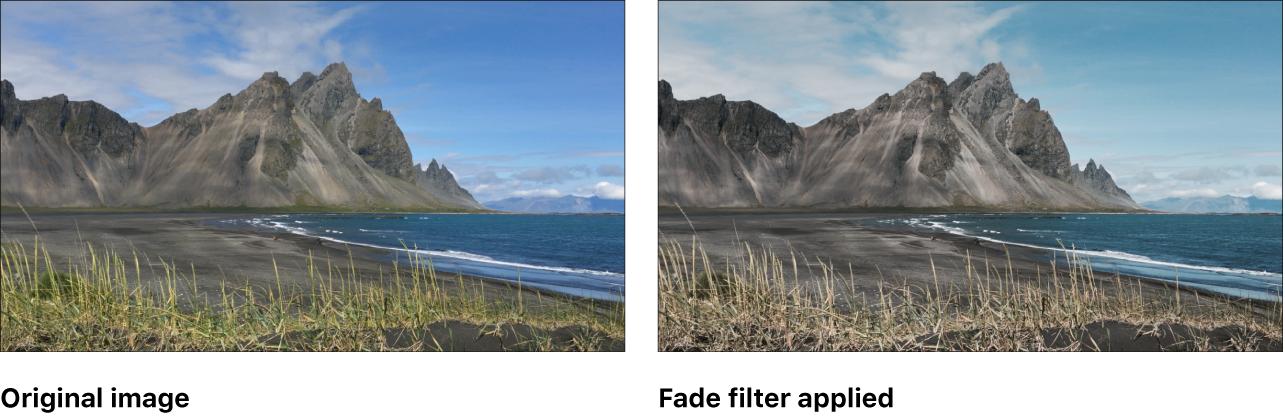 """Canvas mit dem Effekt des Filters """"Einblenden"""""""