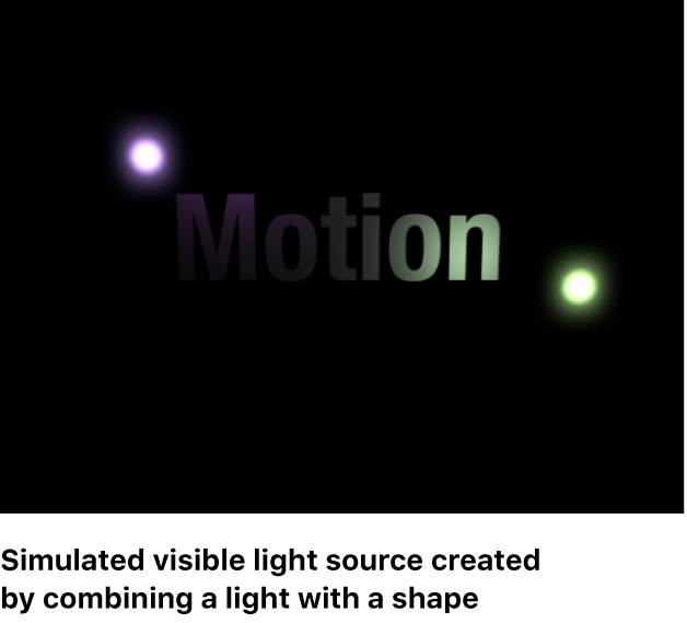 Canvas mit einer simulierten sichtbaren Lichtquelle