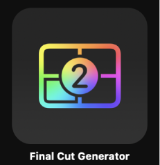 Final Cut Generator icon in Project Browser