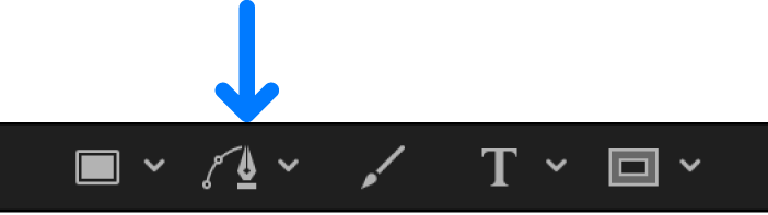 Bezier tool in the canvas toolbar