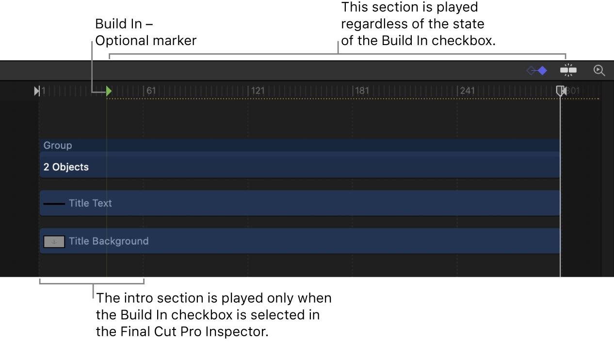 Build In - Optional marker in Timeline
