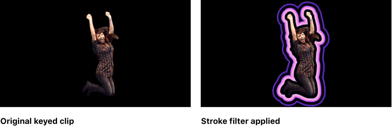 Canvas showing effect of Stroke filter