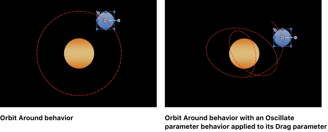 Canvas showing behavior's parameter being controlled by another behavior