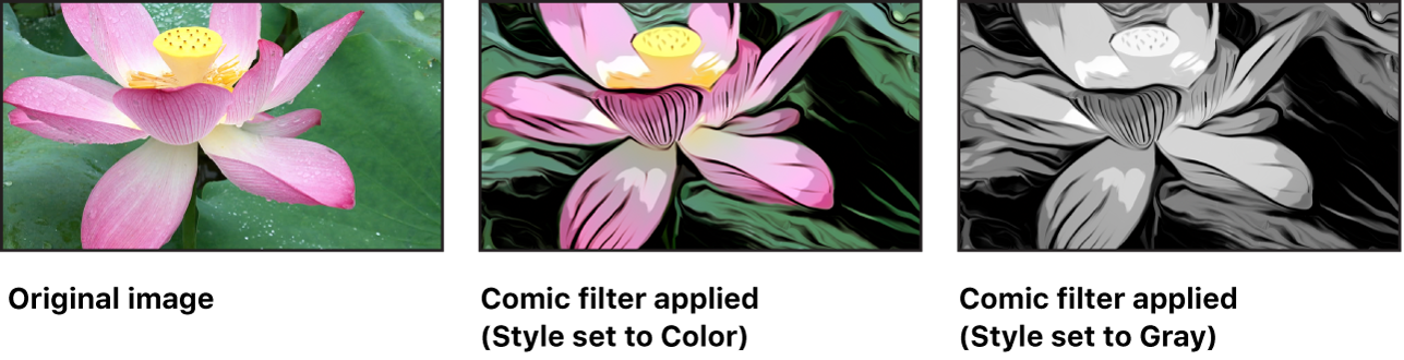 Canvas showing effect of Comic filter