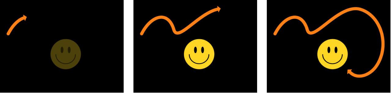 """Lienzo mostrando ejemplo del comportamiento """"Escritura activada"""" aplicado a una figura existente"""