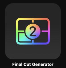 Icono del generador de Final Cut en el explorador de proyectos