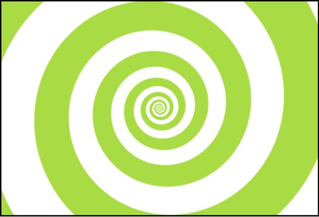 Lienzo y generador Espirales, con Tipo ajustado en Clásico
