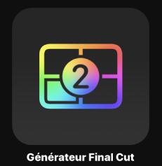 Icône de générateur FinalCut dans le navigateur de projets