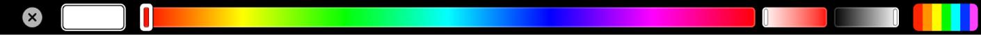 Options de couleur de texte dans la TouchBar