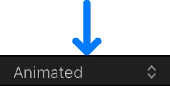 「キーフレームエディタ」の「カーブセットを表示」ポップアップメニュー