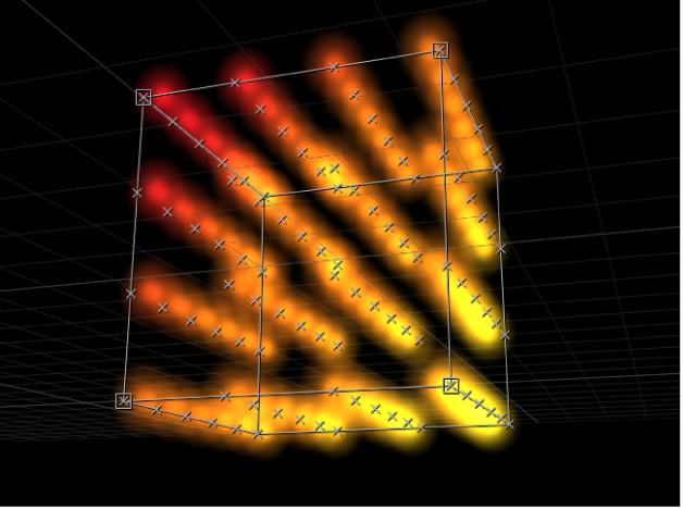 """显示复制器设定为带有""""拼贴""""排列的""""方框""""形状的画布"""