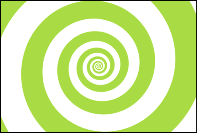 """显示""""类型""""设定为""""经典""""的螺旋形发生器的画布"""