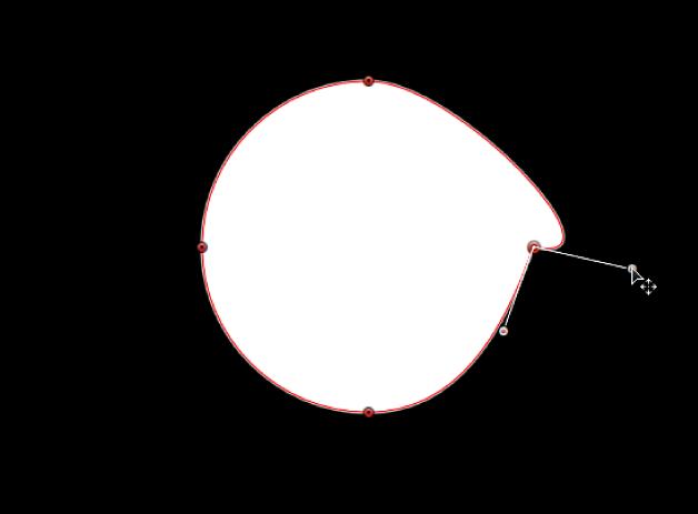 Der Viewer mit einem Tangentensegment, das unabhängig von seinem gegenüberliegenden Tangentensegment gedreht wird