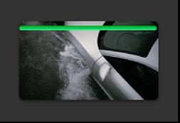 Clip de evento con una línea verde