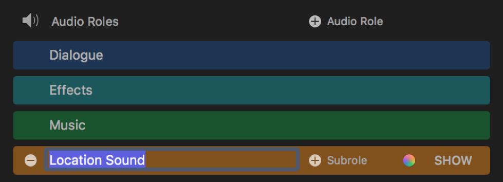 Editor de función con un nombre de función seleccionado