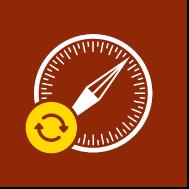 """Un icono de aviso de """"Descargando contenido remoto"""""""