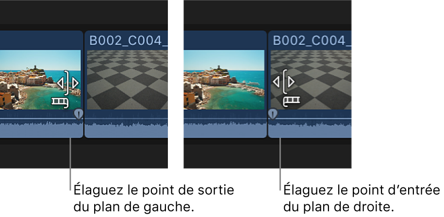 Changement d'apparence de l'icône d'élagage pour indiquer si l'élagage va être appliqué au plan de gauche ou de droite