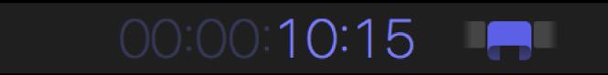 Zone d'affichage du timecode présentant la durée d'un plan
