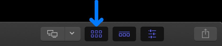ツールバーの「ブラウザ」ボタン