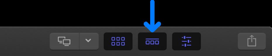 ツールバーの「タイムライン」ボタン