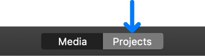 Projects button in toolbar
