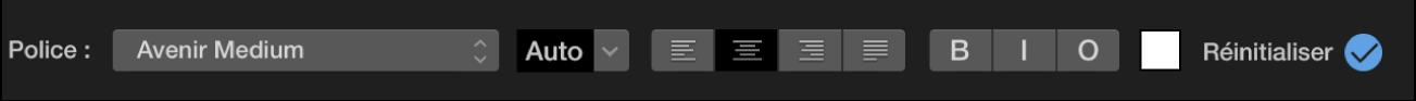 Commandes de titre au-dessus du visualiseur