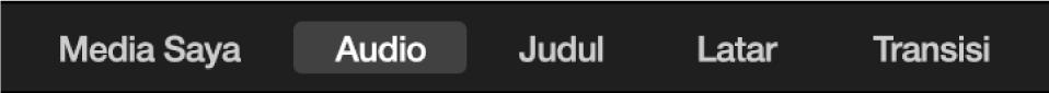 Audio yang dipilih di atas browser